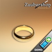 Magnetic ring, gold